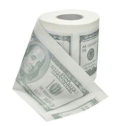 Горячая Распродажа Новый сто доллар туалетной Бумага Новинка весело $100 TP деньги рулонный кляп подарок