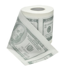 Hot sale New One Hundred Dollar Bill Toilet Paper Novelty Fun $100 TP Money Roll Gag Gift(China)