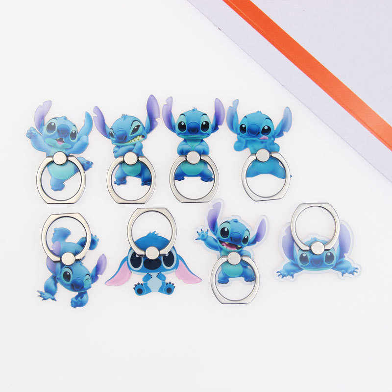 UVR Cartoon Character Stitch Mobile Phone Stand Holder Finger Ring Smartphone Cute Animal Holder For Xiaomi Huawei All Phone