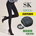 Envío libre Revitalizar SK6800D cachemira térmica magnética delgada caliente del pie pantimedias paso pie dragón Fleece Leggings Dongkuan