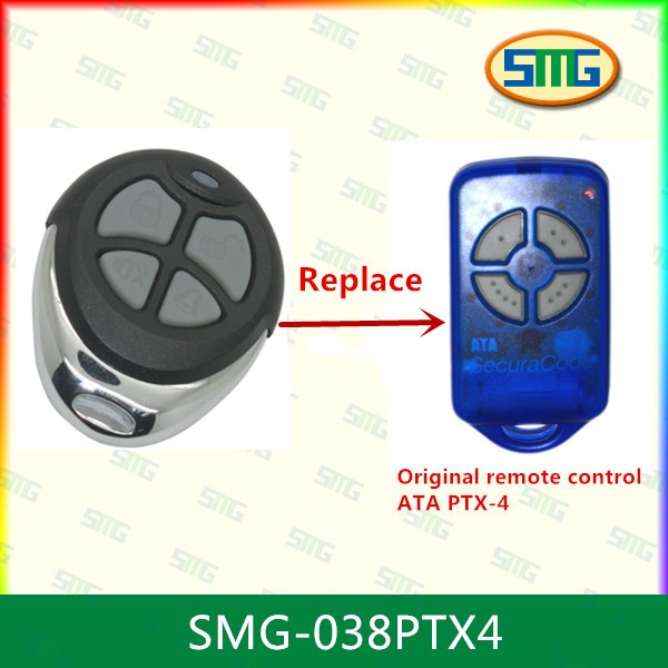 3x Garage Door Remote Control compatible with ATA PTX-4 roller sectional tilt