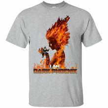 Dark Phoenix Shirt Cool Thanos vs Jean Grey Fighting Love Marvel Xmen Clothes Cotton Tee Shirts For Men The New