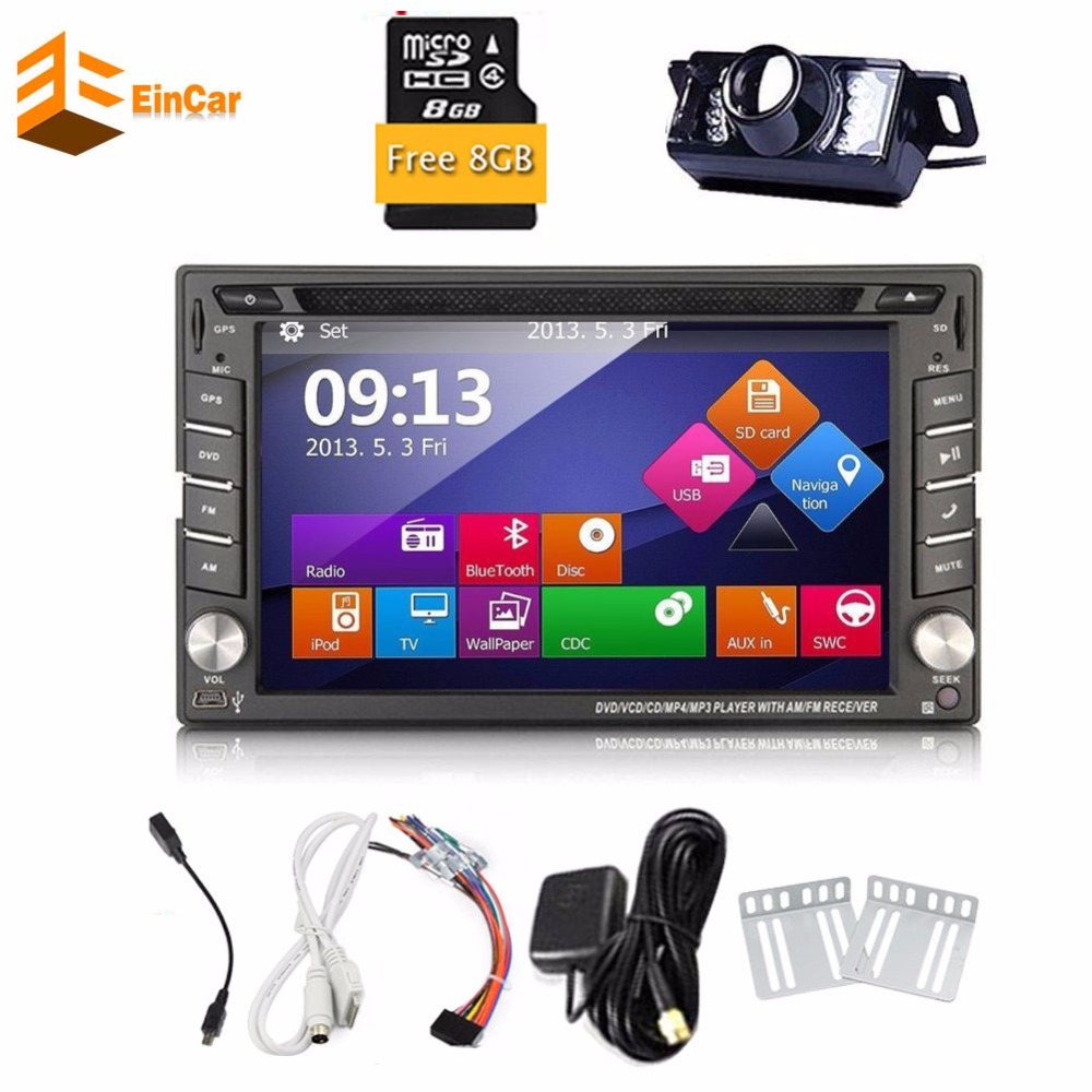 В консоли 2 Din автомобильный ПК Радио DVD gps навигация авто плеер 2din автомобильный аудио gps блок радио плеер бесплатная карта Встроенный Bluetooth