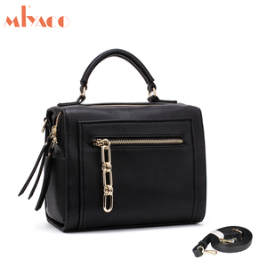 Image 2 - MIYACO Women Leather Handbag Black Shoulder Bags Crossbody Bags Female Messenger Bag Casual Ladies Hand Bags 2019