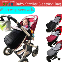 Baby Stroller Sleeping Bag envelope Stroller Accessories winter wrap sleep sacks, newborn Foot Cover Baby products for Pram