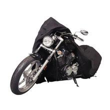 Coprimoto nero per Honda Shadow ACE Aero Sabre Spirit VLX 600 750 1100 / Harley Softail Custom FXSTC Fatboy FLSTF