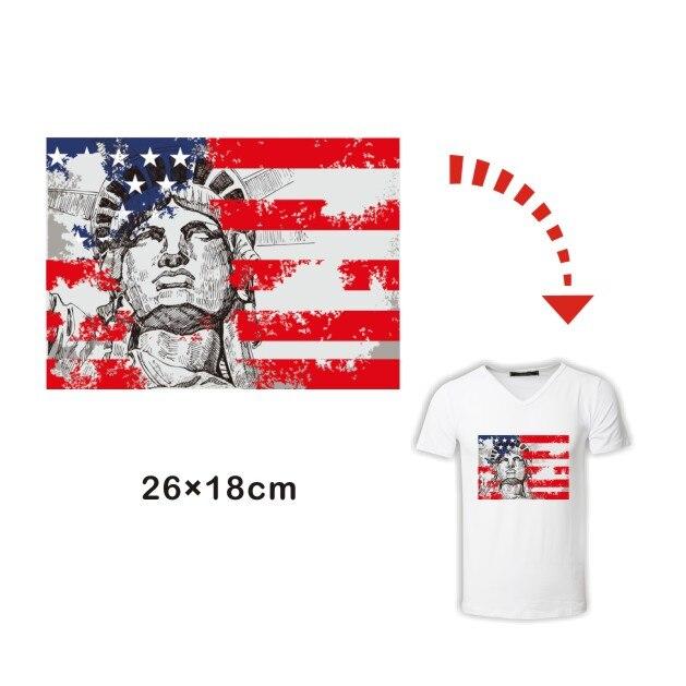 Da Pressa A Usa Vogliamo Stiro Transfer Flag Sticker Libertà Ferro OPkuXZi