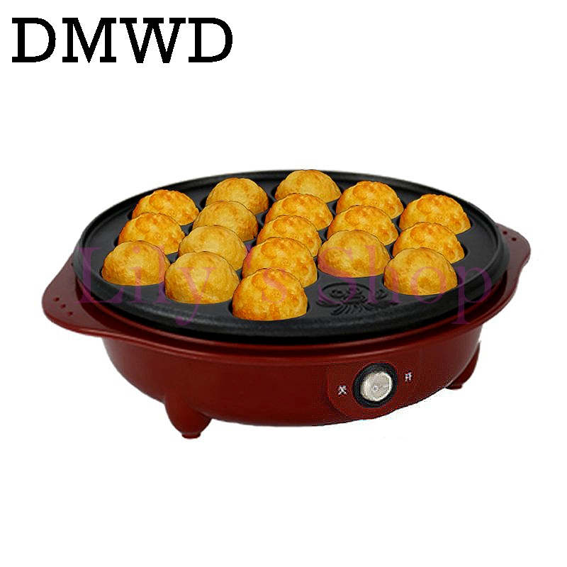 DIY electric takoyaki octopus balls machine Chibi Maruko maker Professional octopus household baking machine 18 holes EU US plug cukyi exported professional octopus ball maker takoyaki machine 650w 220v 18 holes grill mold burning plate diy cooking tools