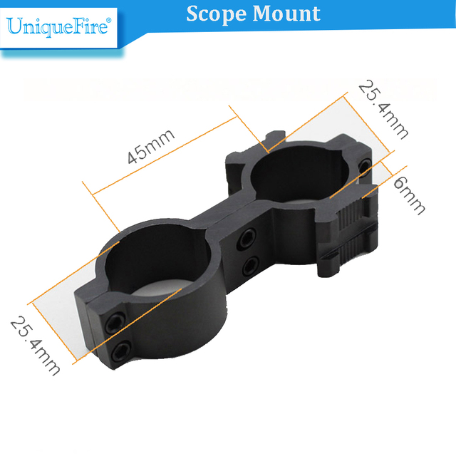 UniqueFire QQ04 Outdoor Tactical Hunting Scope Rail Mount Flashlight Laser Sight Tube Made by Aircrft-grade Aluminum
