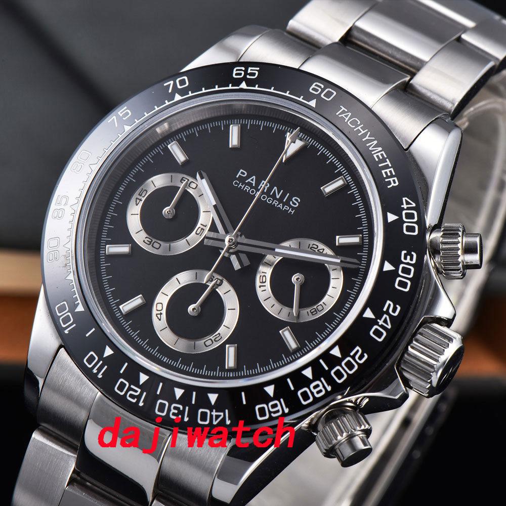 Safira Soild completa Chronograph Quartz Mens Watch