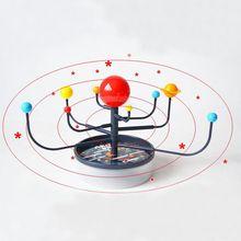 Популярные 3D 9 Пластиковые планеты, научная модель солнечной системы, креативные Детские сборные игрушки, обучающие игрушки