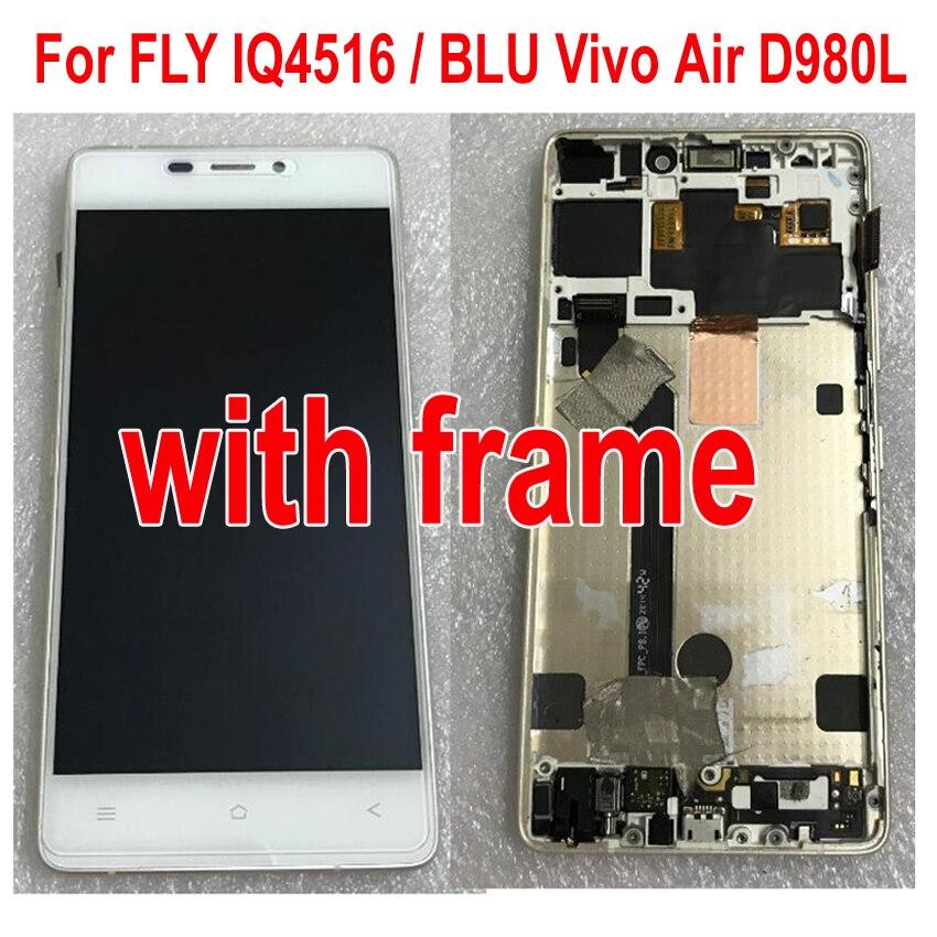 LTProTested Arbeit LCD Display Touchscreen Digitizer Montage mit rahmen Für FLY IQ4516/BLU Vivo Air D980L TELEFON teile
