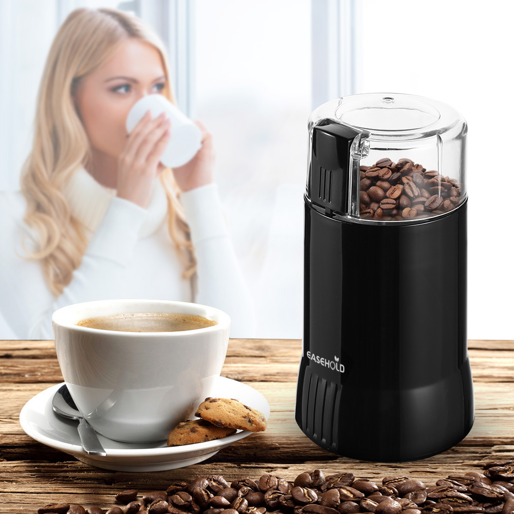 Easehold Electric Coffee Spice Grinder Maker with Stainless Steel Blades Beans Mill Herbs Nuts Moedor de Cafe Home Use stainless steel electric coffee spice grinder maker beans herbs nuts cereal grains mill machine home use eu plug