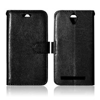 Solid color Luxury PU Leather Wallet Case For Asus ZenFone Go ZC451TG 4.5inch Flip Magnetic Silicone Cover with Card Slot