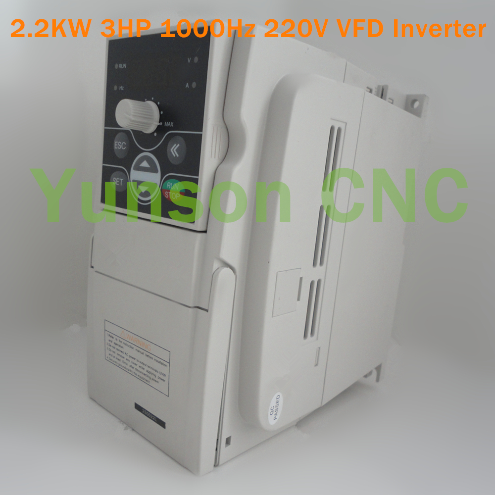 2 2kw vfd inverter variable frequency drive 3hp 1000hz for 3hp 220v single phase motor
