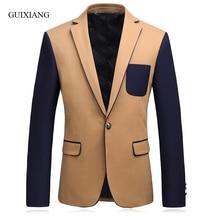 2017 New Arrival Spring and Autumn Style men boutique blazers vogue metropol fashion casual slim men suits jacket size M-3XL