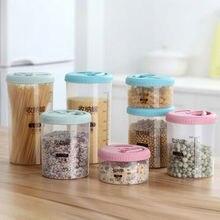 Пластиковый диспенсер для зерновых культур ящик для хранения кухни пищевой для зёрен рисовые снеки контейнер, ящик для хранения ванны с крышками Deli горшок соус Dip