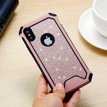 Get more info on the For iPhone 7 case Glitter Bling Cute Design Heavy Duty Protection Phone Case for iPhone 5 5s se 6 6s 7  8 plus X XR XS Max