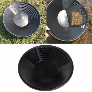 Image 1 - 15 pouces nouveau plastique or Pan bassin pépite minière Pan dragage prospection rivière outil lavage or panoramique équipement O24 livraison directe