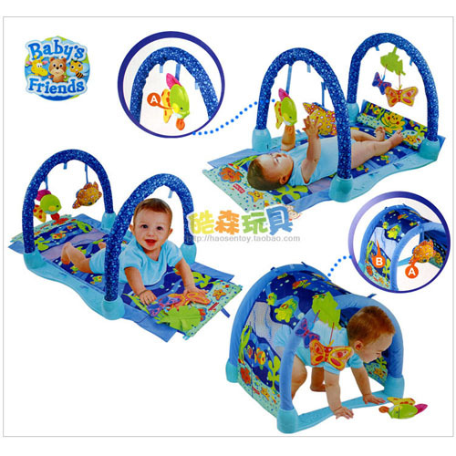 Hot Sale Music Game Blanket Baby Play Mat Fitness Rack Baby Toy 0 1 Year Old Girls Boys Kids Game Pad-In Play Mats From Toys  Hobbies On -6931