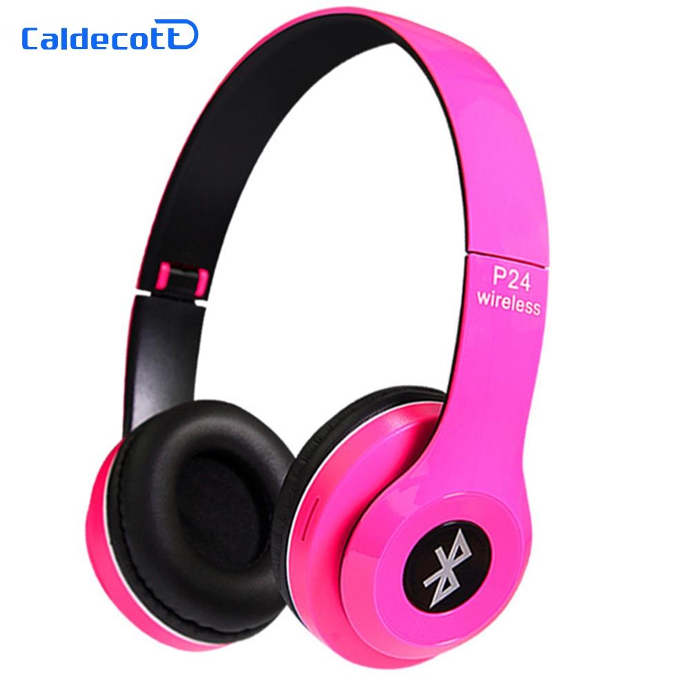 Caldecott Stereo Wireless Bluetooth Headset Over Ear Auriculares Bluetooth Earphone Bass Headphones with Mic for Children