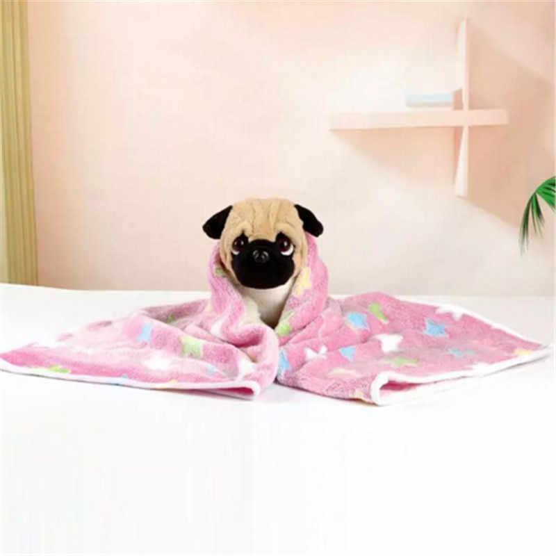 Новый 1 шт. коврик для домашних животных маленькая большая кость в виде конечности принт подушка для собак кошек флисовое мягкое одеяло кровать звезда узор
