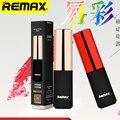 Remax 2400 mah diseño de mini barra de labios banco de alimentación de reserva externa del banco de potencia extra de batería paquete de energía de reserva de emergencia rpl-12