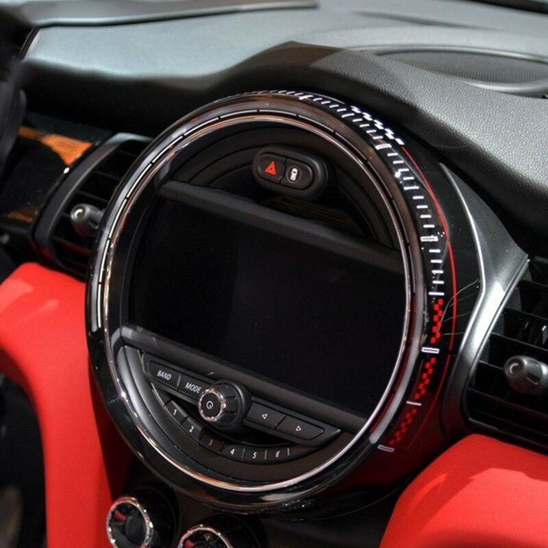 Intérieur voiture contrôle Central écran tableau de bord couvercle logement garniture cadre décor pour MINI Cooper One JCW F55 F56 accessoires