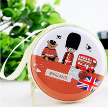 Cute Portable Earphone Case with Zipper Headphones Storage Bag Earbuds Coin Holder Box Carrying Hard Earphone