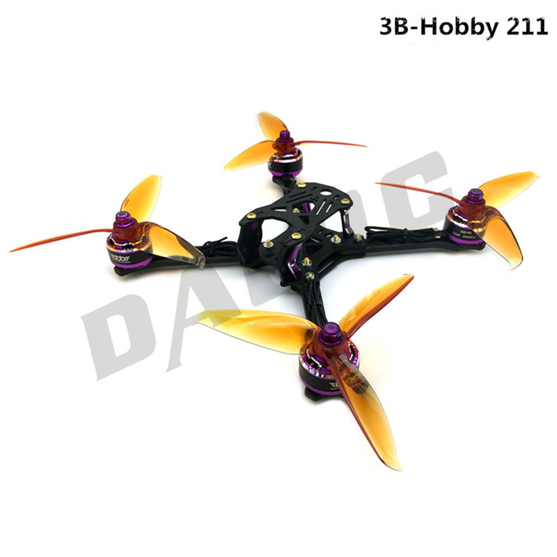 3B-Hobby 211 5inch frame with 3B-R 2206 KV2500 motor + Gemfan FLASH 5152 propeller DIY mini racing drone power kit gemfan master 5045bn 3 blade propeller gold