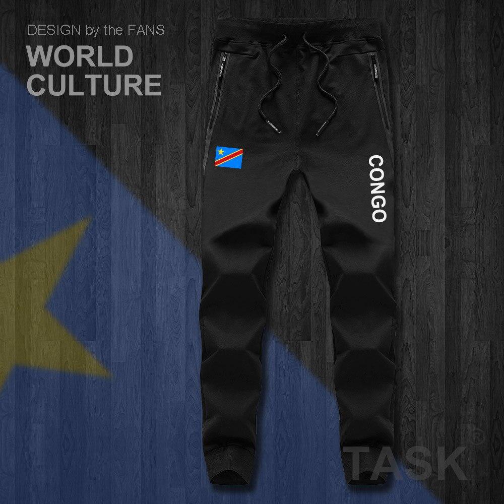 DR Congo COD DRC DROC Congo-Kinsha Congolese Mens Pants Jumpsuit Track Sweat Sweatpants Fitness Fleece Casual Nation Leggings