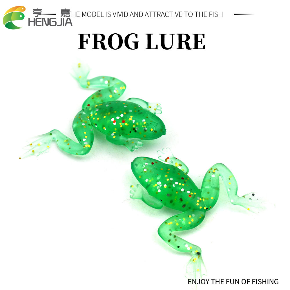 5Pcs Frog Soft Lure 5g Wobbler Fishing Lure Sea Jig Lure Silica gel Swimbait Isca Artificial Trout Pike Bass for fishing