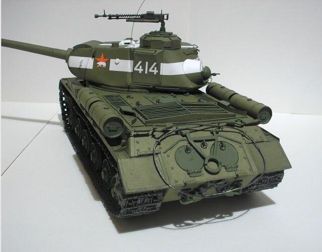 1:35 DIY Paper Model Soviet Heavy Tank Is-2 WW II Boy Gift Papercraft 3D Puzzle