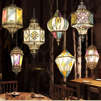 Turkish handmade Mosaic pendant light stained glass cafe restaurant bar living room hanging light