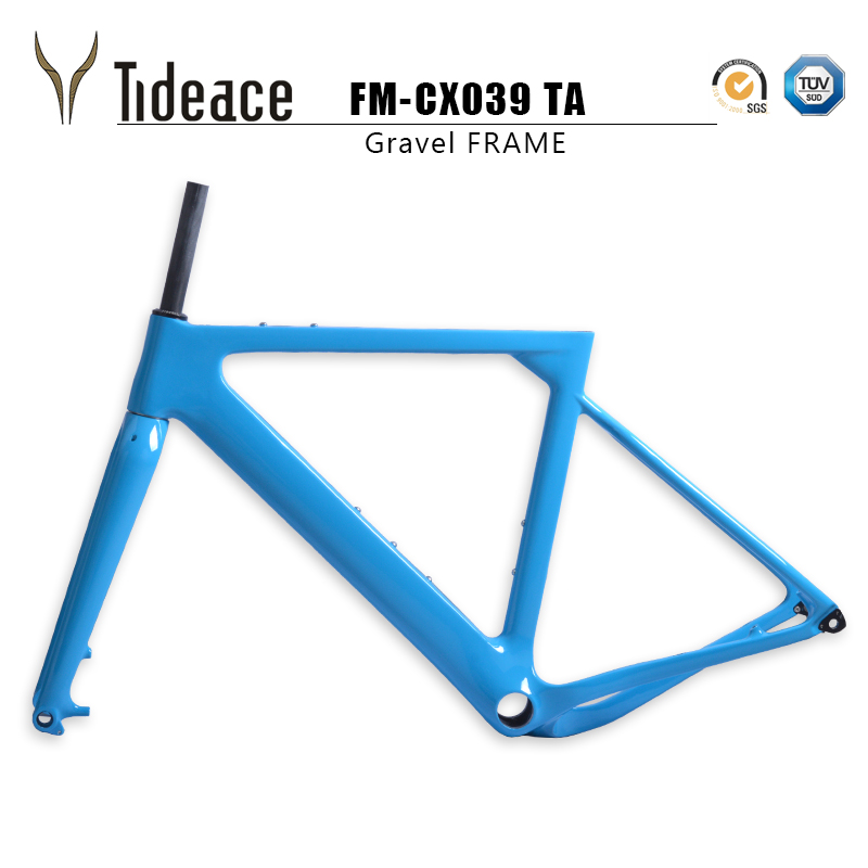 Tideace Gravel Bike Frame Aero Frame 142x12mm Disc Brake Carbon Bicycle Frame Post Mount Cyclocross Frame