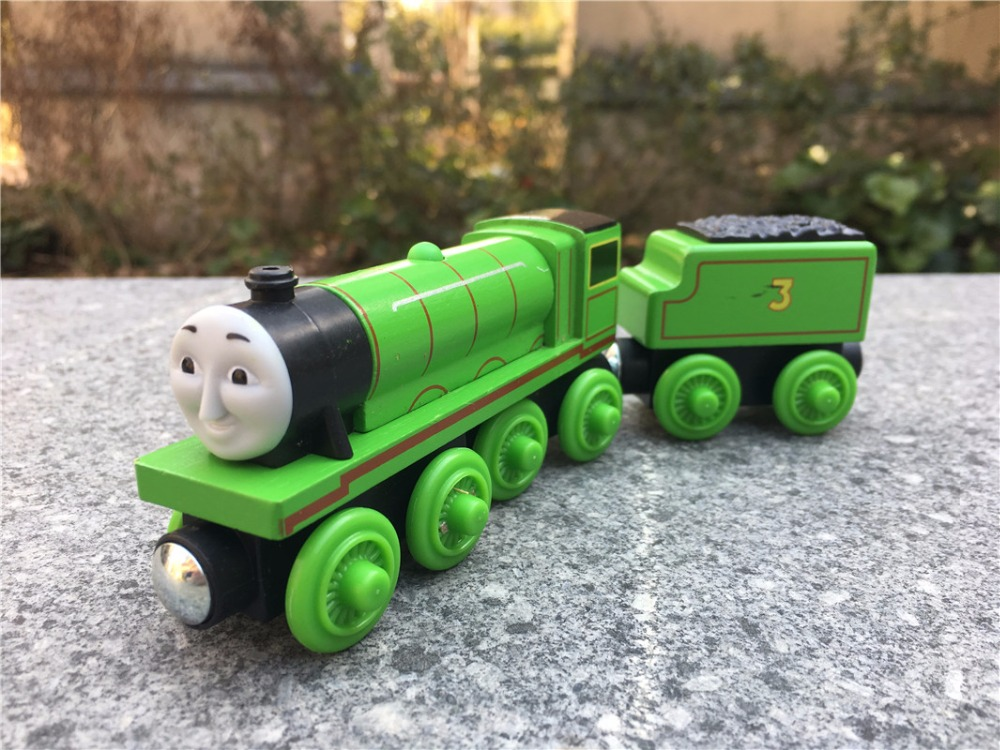 TT03 Geniune Thomas Friends Take N Play Wooden Magnetic Toy Train Henry with Tender New Loose