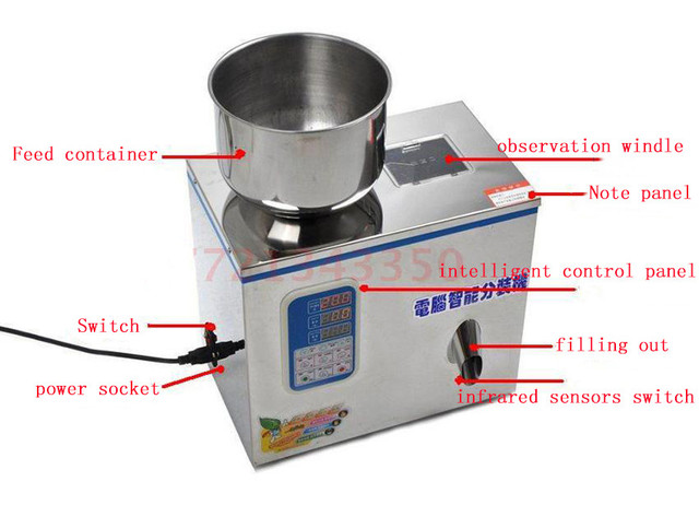 Medicinal powder packaging machine microcomputer automatic packer Tea granule tea leaf packer filling machine