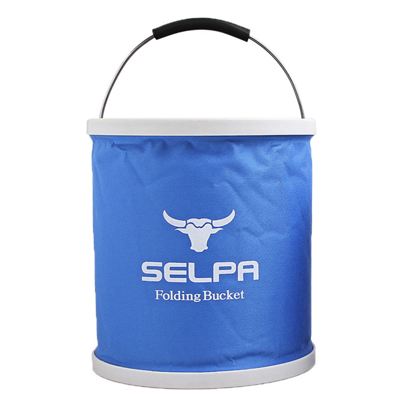 Outdoor Folding Bucket Camping Bucket Environmental Friendly Portable Folding Barrel 11L Storage Compressed bucket #2o05 (1)