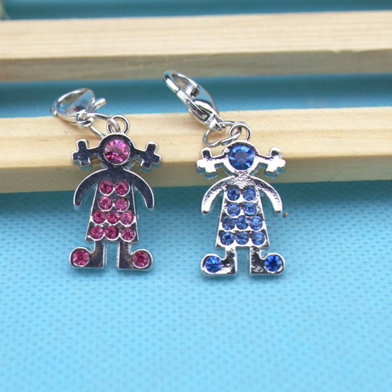 Factory direct sale.Cartoon young girl pendant shape.4 kinds of color can choose. factory hand crafted.Wide range of USES