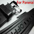 NEW 22mm 24mm 26mm Black strap waterproof silicone rubber watchband strap for PAM With LOGO