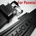 NUEVA 22mm 24mm 26mm Negro correa de goma correa de reloj de correa de silicona resistente al agua para PAM Con LOGO