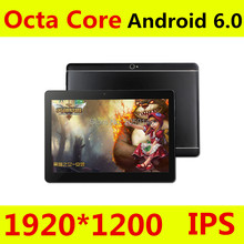 10 pouce Octa Core 3G 4G Tablet Android 6.0 RAM 4 GB ROM 64 GB 5.0MP Double Carte SIM Bluetooth GPS Comprimés 10.1 pouce 4G tablet pc