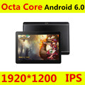 10 polegada Octa Núcleo 3G 4G Tablet Android 6.0 RAM 4 GB ROM 64 GB 5.0MP Dual SIM Card Bluetooth GPS Tablets 10.1 polegada 4G tablet pc