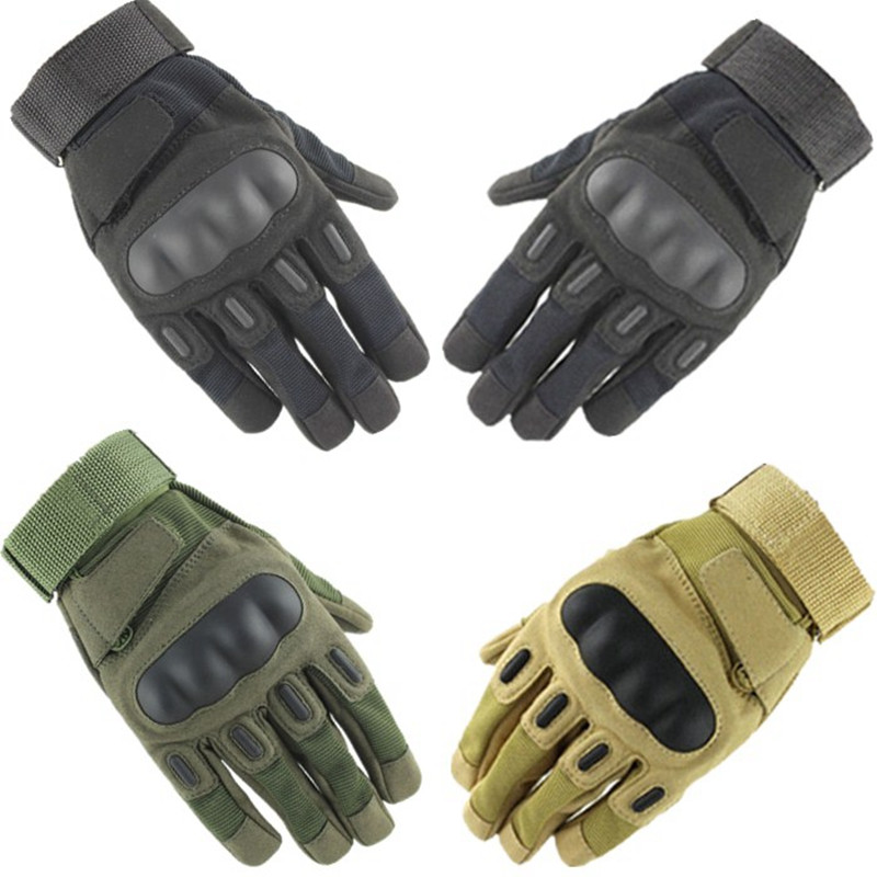 Men Military Tactical Gloves Shooting Airsoft Paintball CS Police Army Impact Protective Fight Combat Hard Knuckle Safety Gear