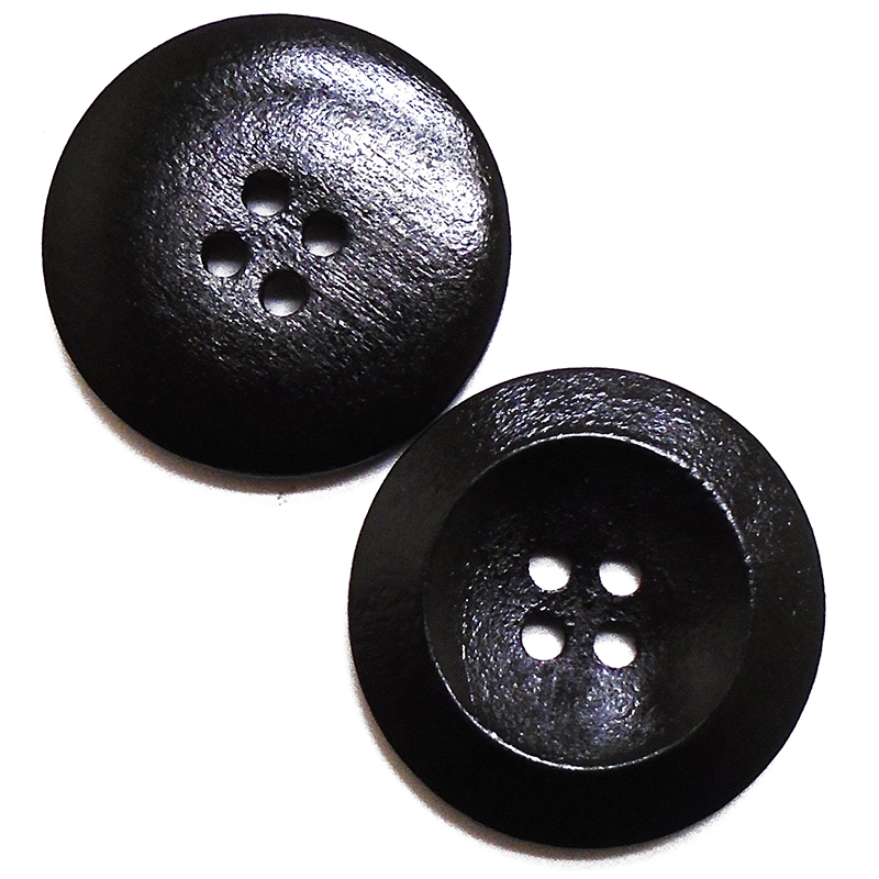 20PCs Dark Coffee Hot 4 Holes Round Wood Sewing Buttons 35mm Dia. 1 3//8/""