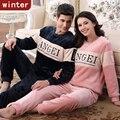 Autumn And Winter Coral Fleece Lovers Sleepwear Thickening Cartoon Long-sleeve Flannel Lounge Sleepwear