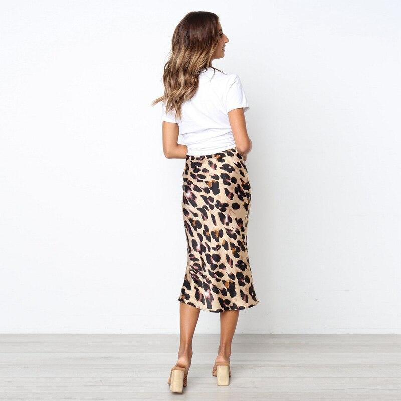 c6223fb06 Vintage Leopard Print Women Skirt Long Fashion Bodycon Pencil Jupe Longue  Femme Autumn 90S Sexy Midi Skirts For Women | My Shop Name