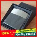 [ IDEA ] ^_^ negocios negro 10 unids pitillera de cuero accesorios de fumar de Metal de cigarrillos titular de cigarrillos cajetilla de tabaco
