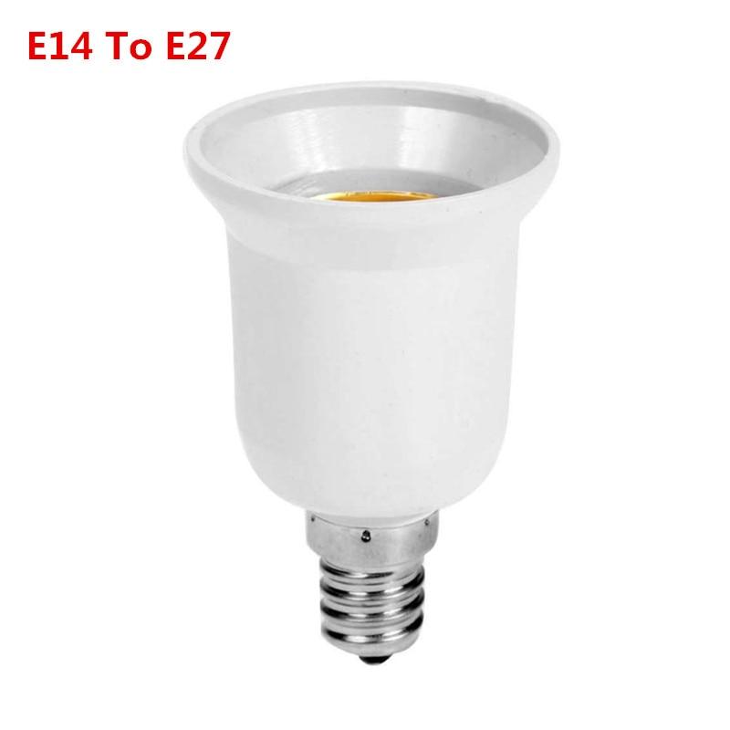Plastik Tahan Api Converter E14 untuk E27 Adaptor Konversi Soket Bahan Berkualitas Tinggi Soket Lampu Bohlam Adaptor Dudukan Lampu title=