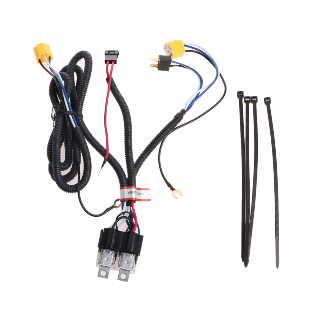 new h4 headlight fix dim light relay wiring harness system 2 headlamp light bulb high quality [ 1000 x 1000 Pixel ]